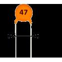 Condensador Cerámico 47pF/50v