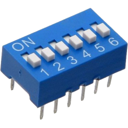 DIP Switch de 6 Contactos