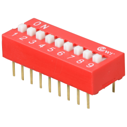 DIP Switch Rojo de 9 Contactos