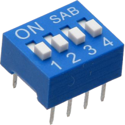 DIP Switch de 4 Contactos