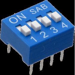 DIP Switch de 4 Contactos