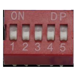 DIP Switch de 5 Contactos