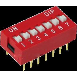 DIP Switch de 7 Contactos