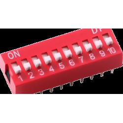 DIP Switch de 10 Contactos