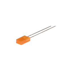 LED Rectangular Naranja 5mm.