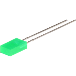 LED Rectangular Verde 5mm.