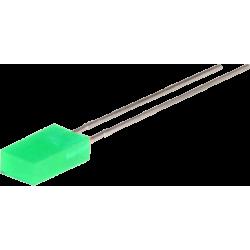 LED Rectangular Verde 5mm.