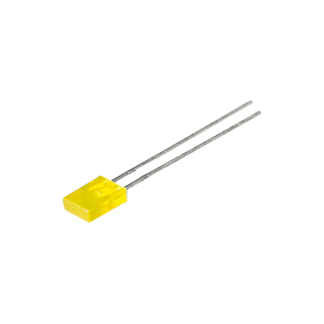 LED Rectangular Amarillo 5mm.