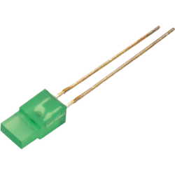 LED Rectangular Verde 3mm.