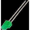 LED Verde 5mm. Triangular