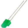 LED Verde 5mm. Triangular