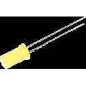 LED Amarillo 5mm. Cilíndrico