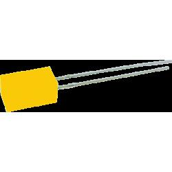 LED Naranja 5mm. Cuadrado