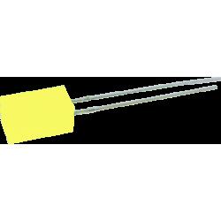 LED Amarillo 5mm. Cuadrado