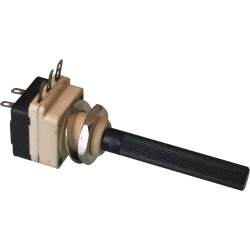 Potenciómetro Eje 6mm. de 2K2ohm. con interruptor.