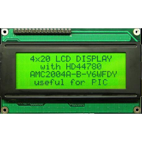 LCD 4x20 con retroiluminación