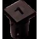 Mirilla-portaled número 1, 5mm., plástico.