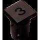 Mirilla-portaled número 3, 5mm., plástico.
