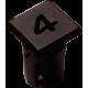 Mirilla-portaled número 4, 5mm., plástico.