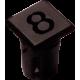 Mirilla-portaled número 8, 5mm., plástico.