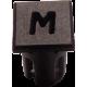 Mirilla-portaled letra M, 5mm., plástico.
