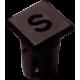 Mirilla-portaled letra S, 5mm., plástico.
