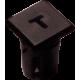 Mirilla-portaled letra T, 5mm., plástico.