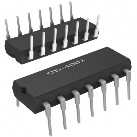 CD4001 - 4 puertas NOR de 2 entradas CMOS