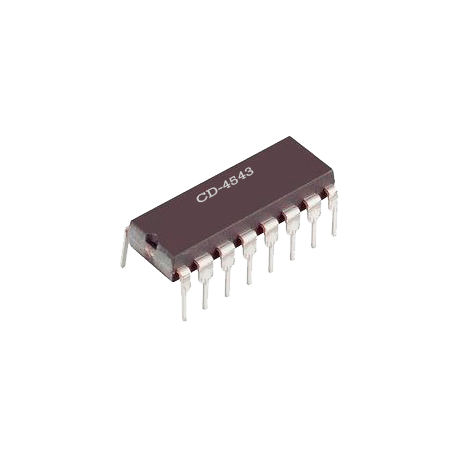 CD4543 - Decodificador BCD a 7 Segmentos CMOS
