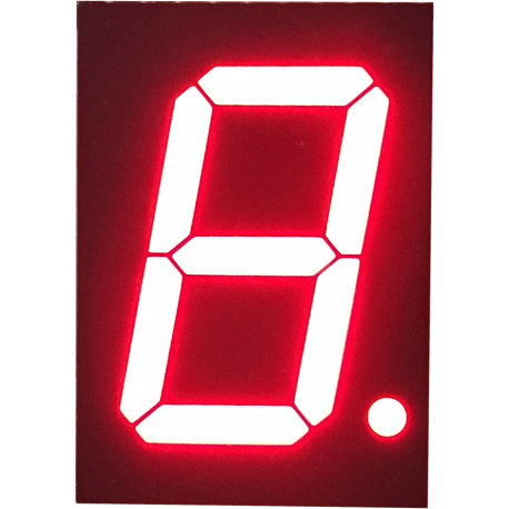"Display 7 Segmentos Bicolor Ánodo Común 1,5"""