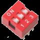 DIP Switch de 3 Contactos