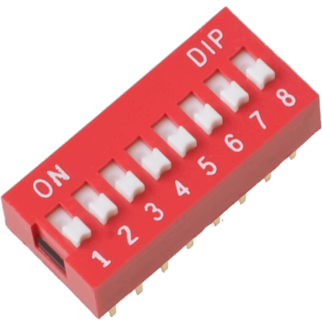 DIP Switch de 8 Contactos
