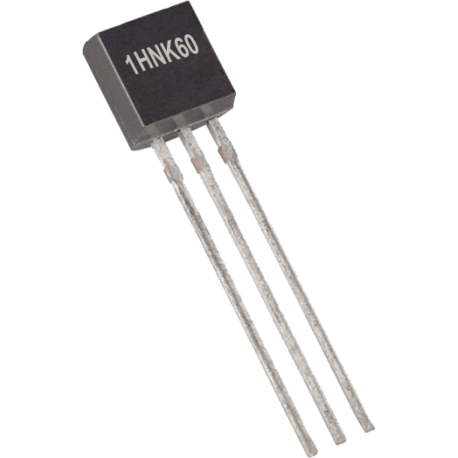 Transistor MOSFET 1HNK60 TO-92