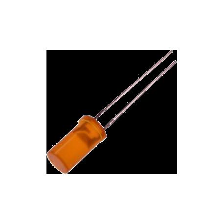 LED Naranja 5mm. Cilíndrico