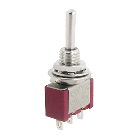 Pulsador de Palanca 3 posiciones, 1 circuito y 2 contactos