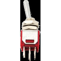 Miniconmutador Palanca 2 posiciones, 2 circuitos y 4 contactos