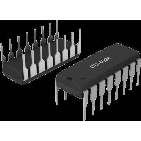 CD4026 - Contador/Decodificador Display 7 segmentos CMOS