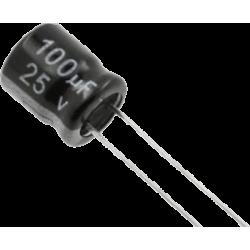 Condensador Electrolítico 100µF/25v