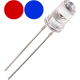 LED Bicolor Rojo-Azul 5mm. 2 patitas. Sin polaridad