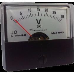 Voltímetro 30Vdc.