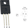 """Transistor de potencia MOSFET """"N"""""""