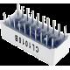 Barra gráfica de 10 LED's azules