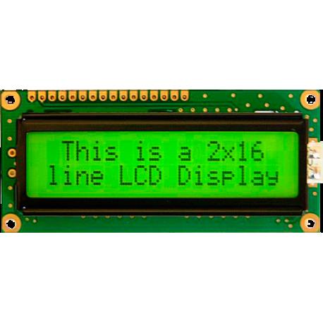 LCD 2x16 con retroiluminación