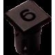 Mirilla-portaled número 6, 5mm., plástico.