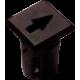 Mirilla-portaled símbolo flecha, 5mm., plástico.