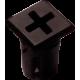 Mirilla-portaled símbolo más, 5mm., plástico.