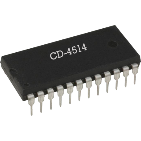 CD4514 - Decodificador de 4 Bits CMOS