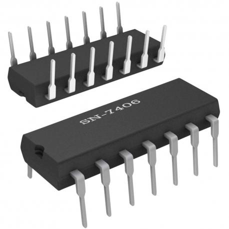SN7406 - Séxtuple Puerta Inversora en colector abierto TTL
